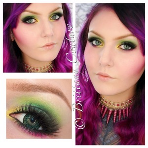 This look from the uber talented Brittany Couture features our Sasha lashes!