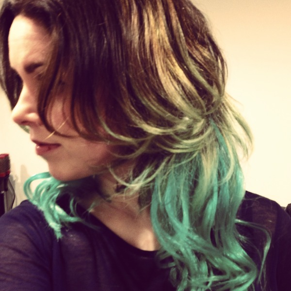 Ombre hair, brown mintgreen | Kelsey R.'s Photo | Beautylish