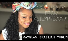 Maxglam Aliexpress Hair Brazilian Curly Virgin Hair
