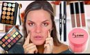 FULL FACE USING CHEAP AMAZON MAKEUP... OMG | Casey Holmes