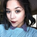 Neutral Eyes With Deep Cranberry Lips