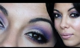 Purple Glitter: Prom Makeup Tutorial w/ BH COSMETICS 120 Color Palette