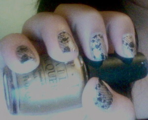 Trying Sephora's Nail Patch Art in French Dentelle.