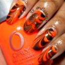 Orange & Chocolate Water Marble