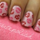 Cute polish lip nails