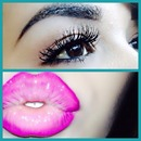 Simple eye + ombre pink lips 💕💞💕