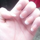 French nails on natural length nails