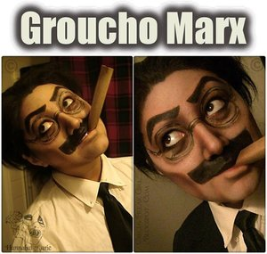 Decided to transform into Groucho Marx from The Marx Brothers.