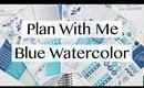 November Plan With Me, Blue Watercolor