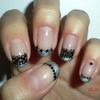 Metallic & Black Freehand Lace