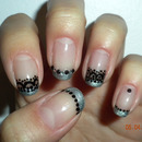 Metallic & Black Freehand Lace