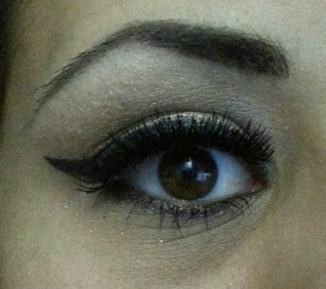 Black wing eye liner with Urban Decay.