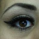 Cat eye- Black winged eyeliner