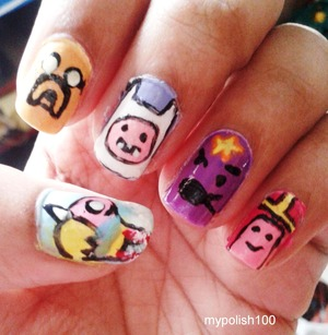 http://mypolish100.blogspot.in/2013/11/adventure-time-nails.html