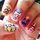 Adventure Time Nails!!!!