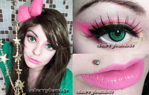 I use Lashes from Blync Lashes http://www.blynclashes.com/ Circle lens Dolly eye green from Shoppingholics http://loveshoppingholics.com/