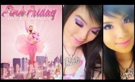 NICKI MINAJ ♡ Pink Friday Fragrance Ad Inspired Makeup