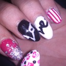 love nails art stripes 2014