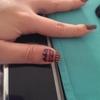 pink tribal inspired nail art