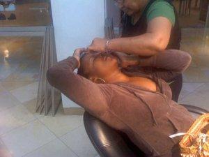 eyebrow threading!