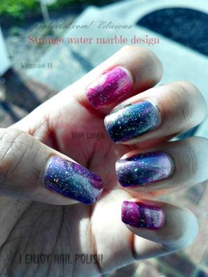All of the nail polish used for this look were: Zoya Reece, Zoya Adina, Zoya Ki and Orly Shine on Crazy Diamond.