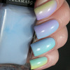 Skittle gradient manicure with the Illamasqua Pastels Blow, Caress, Nudge and Wink