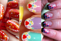 Cute Nail Inspiration: Polka Dots!