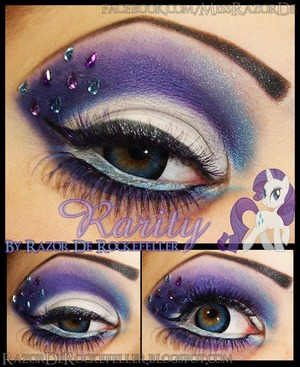 A new version of an old makeup look I did for my MLP series, check out the blog here: http://razorderockefeller.blogspot.com/2013/06/my-little-pony-friendship-is-magic.html