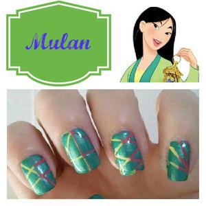 9 other Disney Princess Inspired Manicures on the blog http://www.hairsprayandhighheels.net/2013/02/disney-princess-inspired-nails.html