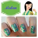 Mulan Inspired Nails