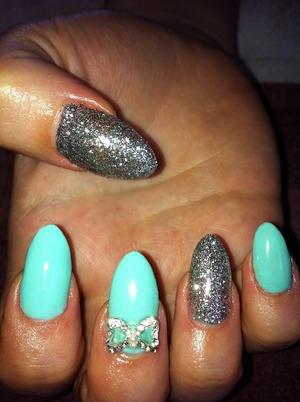 Tiffany inspired nails 💗