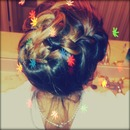 Sideways French Braid Updo