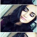 Cut crease makeup.