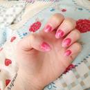 Pink Gradient Wave Nails