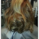 ... And The Back Of This Messy Beachy Wave Style!