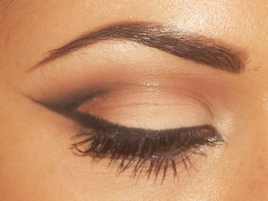 Neutral eye with a fun liner.