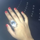 Red Nails + Armour Ring