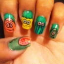 Spongebob nails!