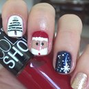 Christmas nail art 2.