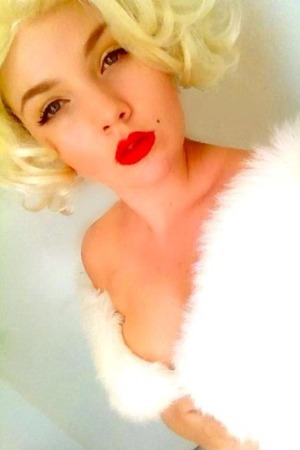 50's makeup based on Marilyn Monroe