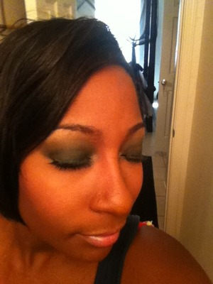 Sultry Green Smokey Eye