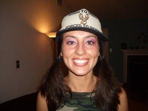 My cousin Amanda- White Trash Bash