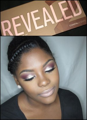 All products on my eyes are from the coastal scents Revealed 2 palette! One of my favorites!