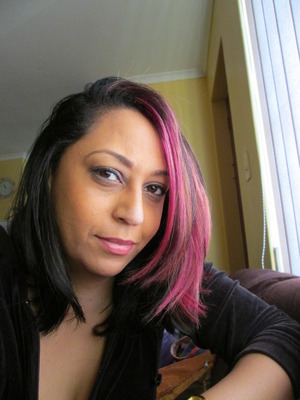 Finally had the chance to update my hair colour for winter.  A bit of pink and black this time around :)