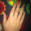 aloha nail desing