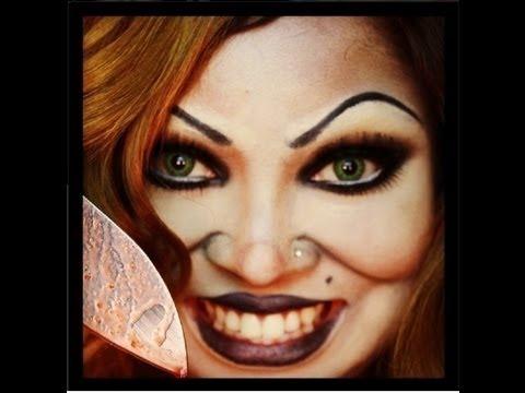 BRIDE OF CHUCKY -Halloween make up tutorial (full face ...