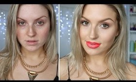 Chit Chat Dewy Skin Foundation Routine ♡ Bright Daytime Red Lips!