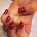 red glitter gels
