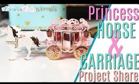3D Paper Crafts Project Share: Princess Horse and Carriage Project Share