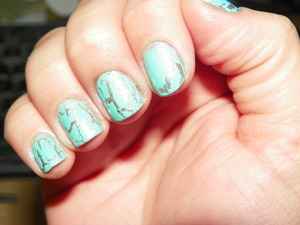 Wet N Wild's 'Silvivor' Two Coats w/ China Glaze's 'Crushed Candy'